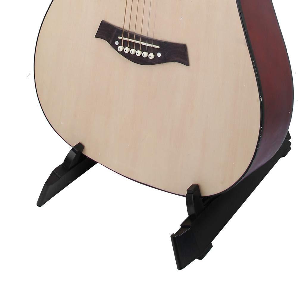 Soporte de guitarra Pr/áctico port/átil Soporte port/átil Soporte de guitarra ac/ústica plegable Soporte universal ajustable Soporte de Fafeims / El plastico