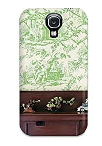 Hot Perfect Tpu Case For Galaxy S4/ Anti-scratch Protector Case (green Tartan In Child8217s Bedroom)