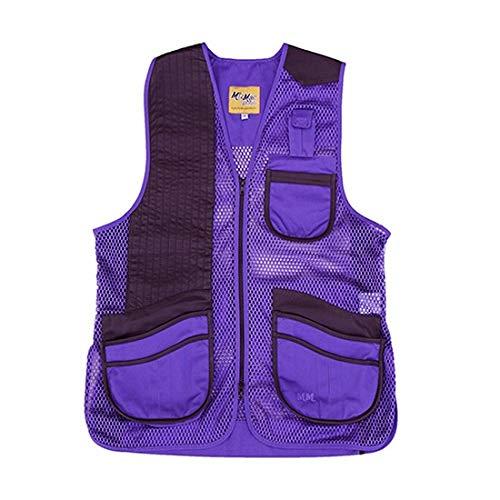 - Peregrine, MizMac Womens Mesh Vest, Genuine Leather Pad, Purple, Right Hand, Medium