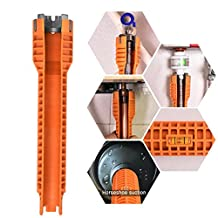 Wrench (Supply nuts, Shut off valves, Strainer Baskets,Supply Line Nut,Faucet Nuts) Faucet and Sink Installer, Toilet Bowl, Sink, Bathroom, Kitchen Plumbing and more. Repair and Installation Tools