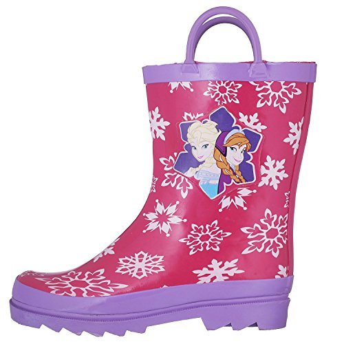 Disney Frozen Girls Anna and Elsa Pink Rain Boots - Size 12 M US Little Kid by Disney (Image #6)