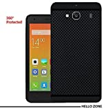 Hello Zone Exclusive Premium Quality Dotted Matte Finish Soft Rubberised Back Case Cover For Xiaomi Redmi 2/ 2S/ Prime - Black