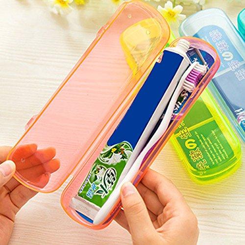 forfar–cepillo para polvo de dientes caja estuche de soporte para cepillos de dientes de viaje cubierta de la caja de...