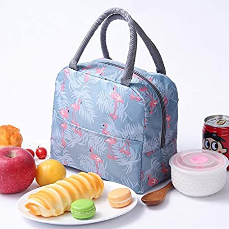Insulated Lunch Bag for Women,Lunch Holder Insulated Lunch Tote Bag,Student Thermal Bag and Lunch Cooler Box(Black Stripe)