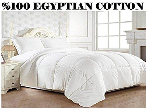 Elegant Comfort 1200 Thread Count Goose Down Alternative Comforter 100% Egyptian Cotton - 750Fill Power- Hypoallergenic - Full/Queen, White (Elegant Comfort Goose)