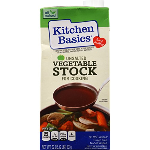 Kitchen Basic Unsalted Vegetable Stock, 32 Fl Oz
