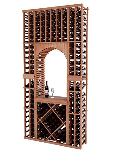 Vintner Series Wine Rack Tasting Center with Displays and Open Diamond Bin for 176 Bottles - 8 Ft - Allheart Redwood with Unstained - Archway ()
