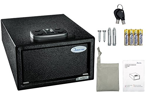 Pistol Safe Quick Access with Electronic Keypad and 2 Emergency Keys by Quicktec (standard size-biometric) by Quicktec (Image #6)