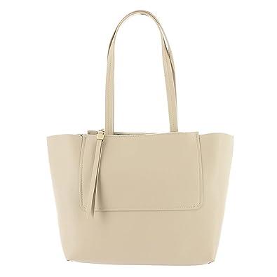 65db8fc4a2 Urban Expressions Womens Apollo Vegan Leather Shopper Tote Handbag Taupe  Large  Handbags  Amazon.com