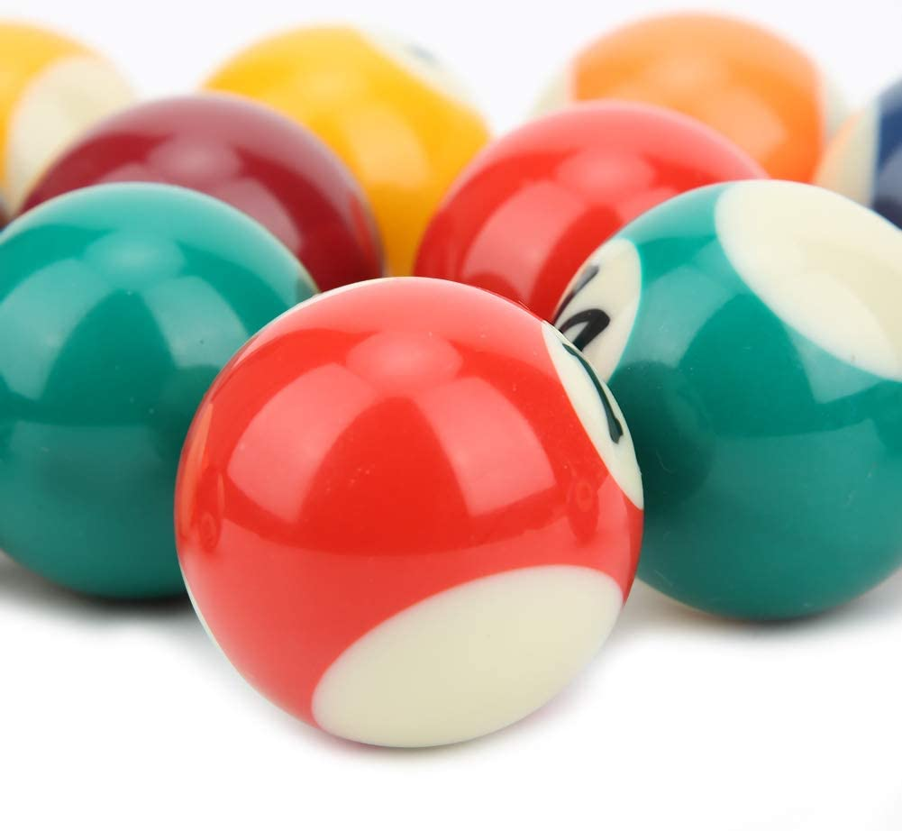 umweltfreundliches Mini Billard Pool Ball Set f/ür Kinder Harz Kleine Pool Queue B/älle Set Keenso 16PCS 38MM Harz Kinder Billardkugel Spielzeug