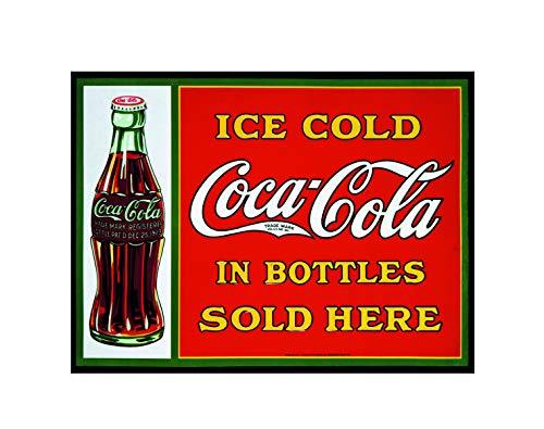 Placa de Metal para Pared con diseño de Cola de Coca Helada ...