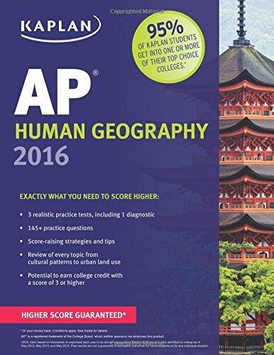 Kaplan AP Human Geography 2016 (Kaplan Test Prep) by Swanson, Kelly (August 4, 2015) Paperback