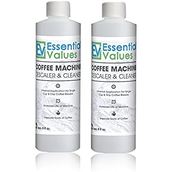 Essential Values Universal Descaler For Espresso and Keurig Coffee Machines, 2 Pack
