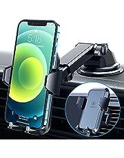 VANMASS Telefoonhouder voor de auto, 3-in-1 ventilatie en zuignap, stabiel, 100% siliconen bescherming, telefoonhouder voor de auto, universele autohouder, 360 graden draaibaar, autohouder voor alle mobiele telefoons, iPhone, Samsung, Huawei, LG