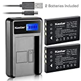 Kastar Battery (X2) & LCD USB Charger for URC 11N09T NC0910 RLI-007-1 MX-810 MX-880 MX-890 MX-950 MX-980 Universal Remote Controls