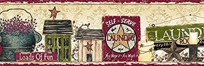 Chesapeake PUR44502B Gidget Yellow Country Fun Portrait Wallpaper Border