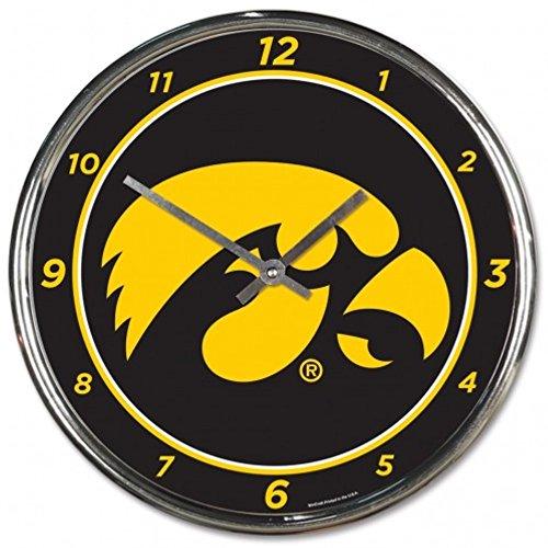 - NCAA Iowa Hawks WinCraft Official Chrome Clock