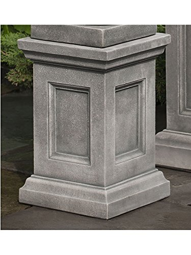 Stone Cast Pedestal Campania - Campania International PD-205-AS Lenox Pedestal, Low, Alpine Stone Finish
