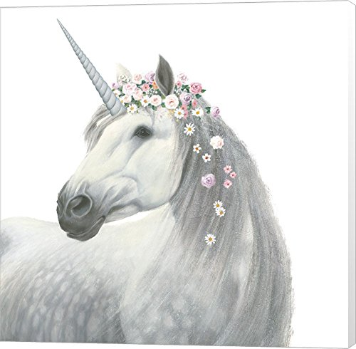 - Spirit Unicorn II Square by James Wiens Canvas Art Wall Picture, Museum Wrapped, 14 x 14 inches