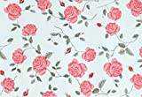 Red Peony Paper Shelf Drawer Liner Wallpaper