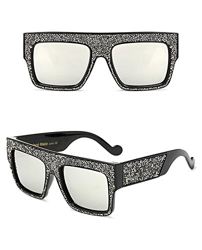 soleil de surdimensionné Designer Dim pour Lunettes de Marque Silver Oculos Gradient étoiles Aprigy Lunettes unisexe Femme sol soleil de homme Silver Wxn1vXW6q