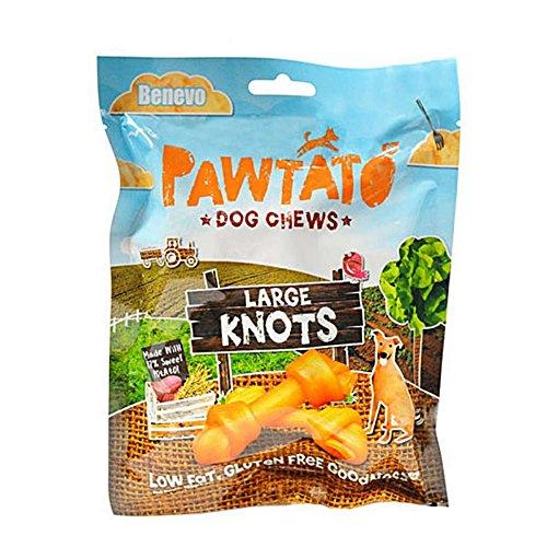 Benevo Pawtato Sweet Potato Knots Large Dog Treat (180g) (Orange)