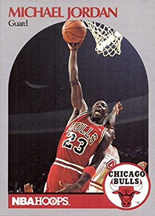 16175103cb1 Amazon.com  1990-91 NBA Hoops  65 Michael Jordan Basketball Card ...