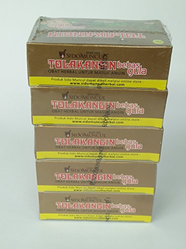 Sido Muncul Tolak Angin Bebas Gula - kostenlos Zucker Kräuter mit Gelée Royale 5-ct, 75 Ml (5 Stück)