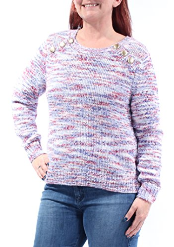 - kensie Women's Space Dye Punk Yarn Sweater, Raspberry Wine Combo, S