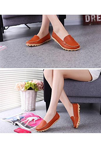 Season Flat Shoes Loafer Women's Leisure Style in Wicky LS 1 Four Orange wxIXqHy8t