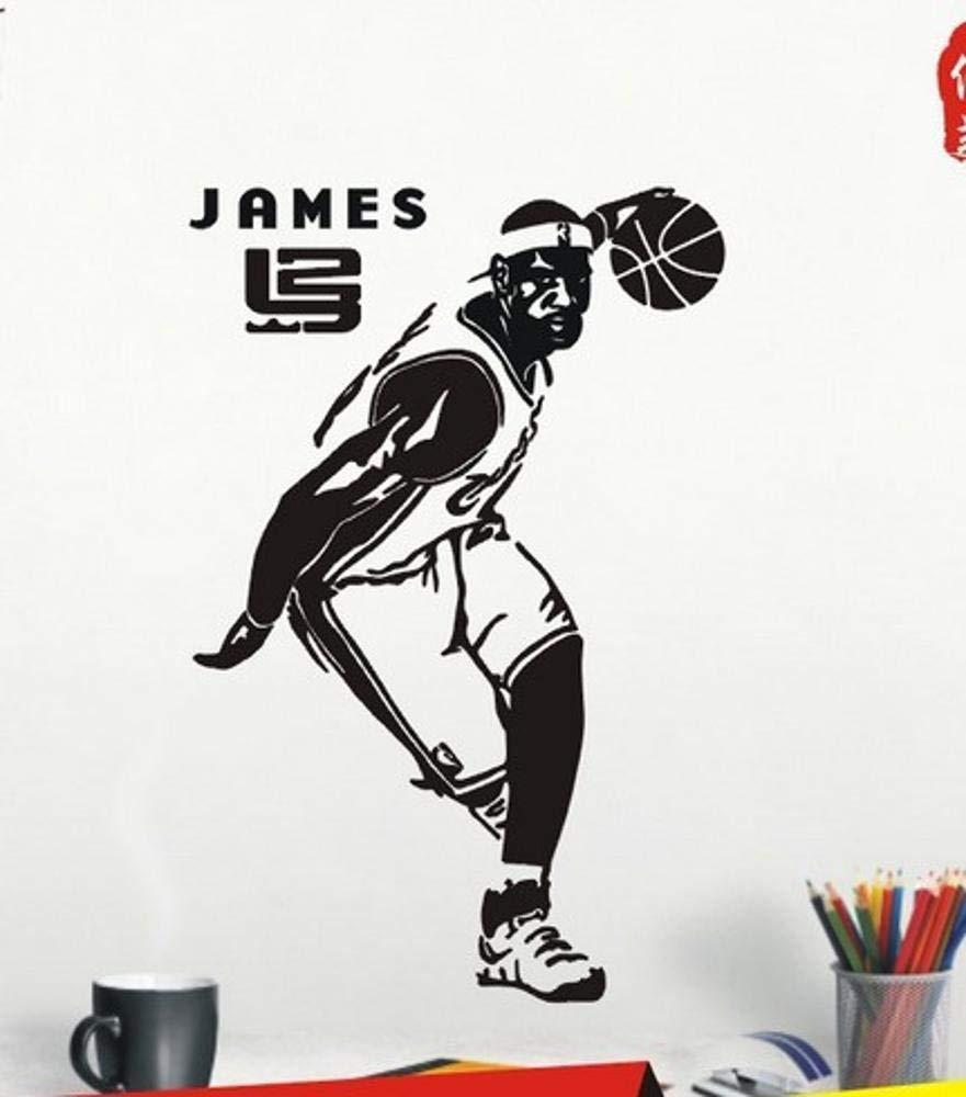 Amazon.com: Luziang Wall Stickers,Basketball NBA Star Wall Sticker Lebron James Poster Sticker Dormitory Bedroom Background Wall Decorative Sticker: Kitchen ...