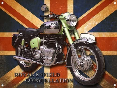 ROYAL ENFIELD CONSTELLATION MOTORCYCLE METAL SIGN.