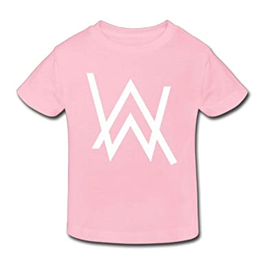 d635bf0d Amazon.com: Edward Beck 2-6 Years Old Children's T-Shirt Alan Walker Logo  Fashion Classic Style Pink: Clothing