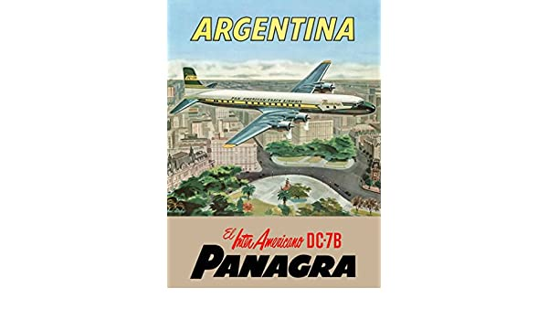 Amazon.com: Panagra Argentina South America Air Vintage Travel Advertisement Poster: Posters & Prints