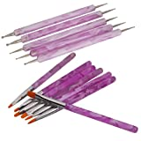 Best Acrylic Nail Brushes - 7Pcs UV Gel Acrylic Nail Art Painting Detailing Review