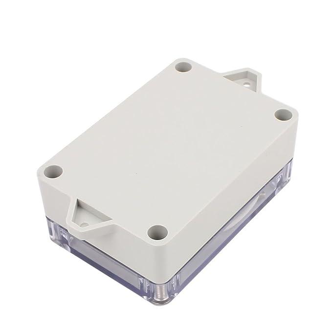 eDealMax 100x68x40mm cubierta transparente a prueba de agua caja de conexiones Caja de terminales del recinto - - Amazon.com