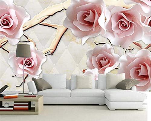 カスタム壁紙ファンタジーローズフラワー3Dソフトパッケージ壁画テレビの背景リビングルームベッドルーム壁画写真-400x280cm