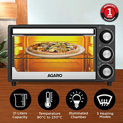 AGARO Grand 21-Litre Oven Toaster Grill with 5 Heating Modes & Convection Function