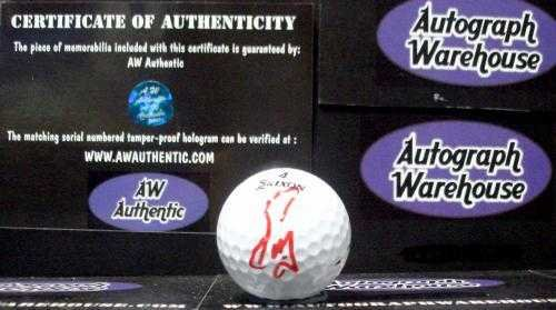 Fuzzy Zoeller autographed golf ball (PGA Golfer Masters US Open Champion) with free display cube -