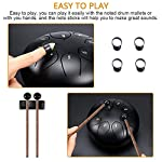 Steel Tongue Drum, Nullnet 6 Inch Hand Pan Percussion Drum 8 Tune Percussion Instruments, Drum with Drumsticks…