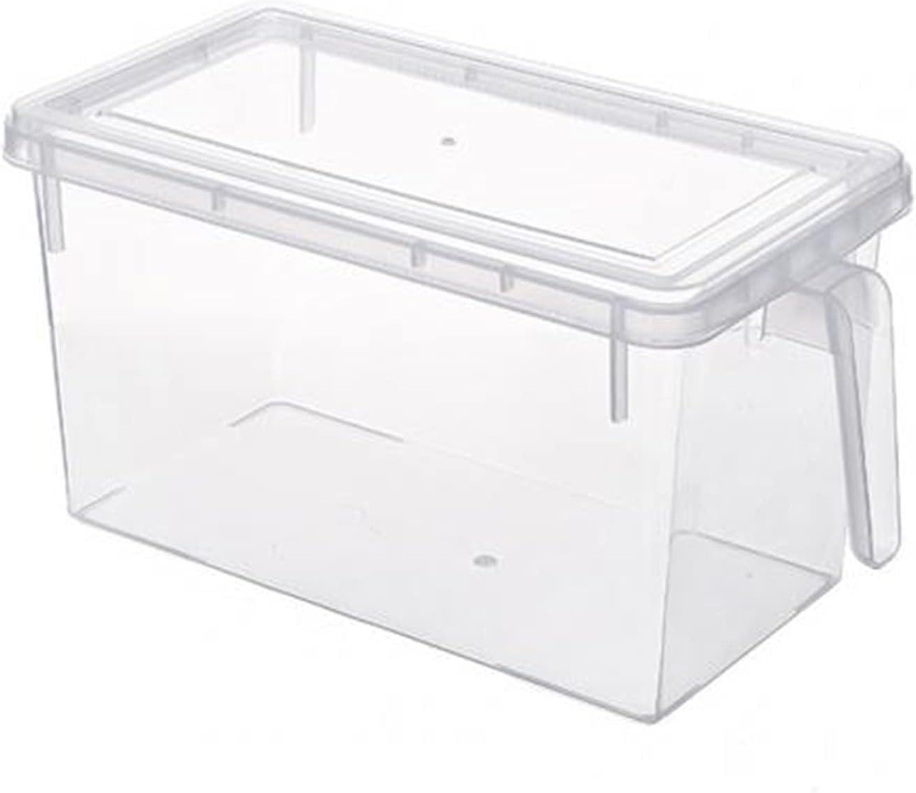 Plastic Keep Fresh Portable Refrigerator Fridge Sealed Food Fruits Storage Box Organizer Container Storage Box Food Container 602 (Color : White)