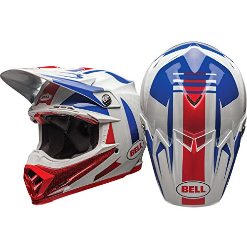 Bell Moto-9 Unisex-Adult Off Road Helmet (Vice Blue/Red, X-Large) (D.O.T.-Certified) (Velocity Off Road Helmet)
