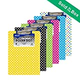 12 Pk, BAZIC Standard Size Polka Dot Paperboard Clipboard w/ Low Profile Clip (Colors May Vary)