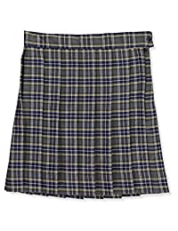 Cookie's Brand Little Girls'Ruby Pleated Skirt - Gray/Blue/White/Gold *Plaid #42*, 6X