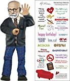 Sigmund Freud Quotable Notable - Die Cut Silhouette Greeting Card and Sticker Sheet