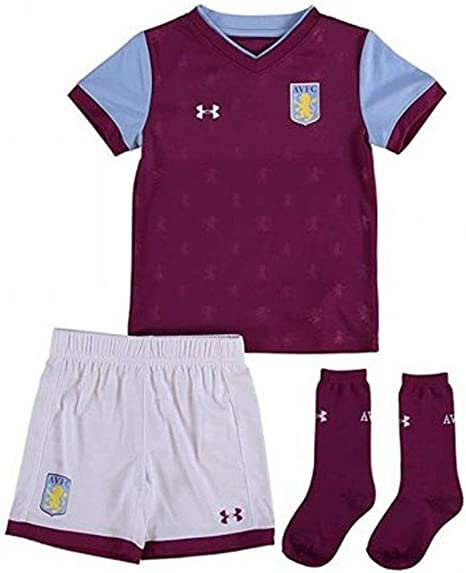 Aston Villa 17 18 Kids Home Football Replica Kit Royal Magenta Size 5 6 Years Amazon Co Uk Sports Outdoors