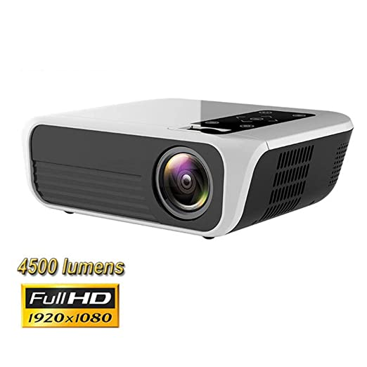 QLPP Proyector, proyector LED nativa 1080P 4500 Lux Video ...