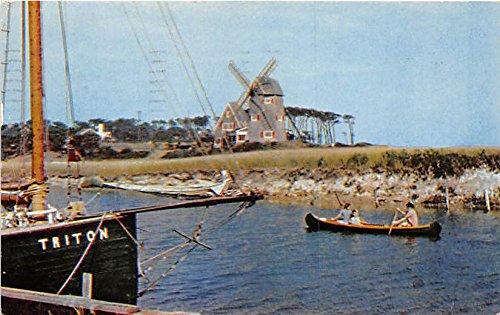 Wind Mill at Old Mill Point Cape Cod Massachusetts Postcard