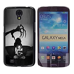 LASTONE PHONE CASE / Slim Protector Hard Shell Cover Case for Samsung Galaxy Mega 6.3 I9200 SGH-i527 / Scary Black White Halloween