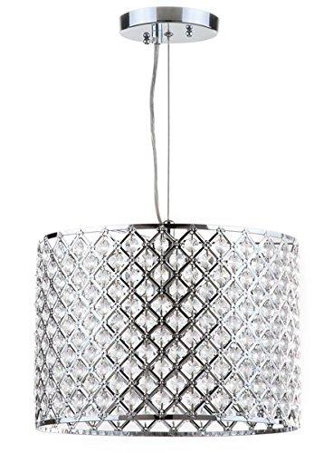 Safavieh Lighting Collection Silva Beaded Diamond Pendant 12-inch ()